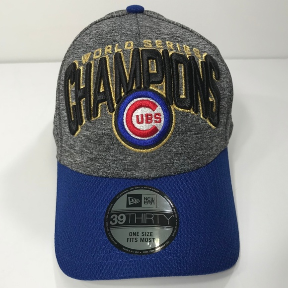huge discount 1e578 78f7a Chicago Cubs Champions World Series Flex Cap Z0325. NWT. New Era